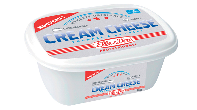 Cream Cheese 25,5% MG 1 kg Elle et Vire - 0024929 - PassionFroid - Grossiste alimentaire