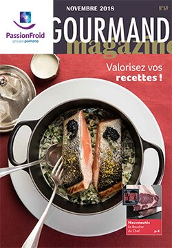 Le gourmand magazine novembre - PassionFroid distributeur alimentaire pour la restauration collective