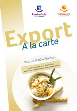 Export à la carte - PassionFroid - Grossiste alimentaire