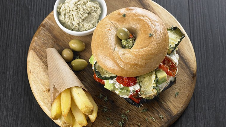 Le bagel vegetarien - 1096 - PassionFroid - Grossiste alimentaire