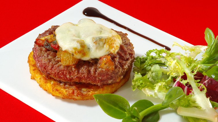 Steak hache a l'italienne - 125 - PassionFroid - Grossiste alimentaire