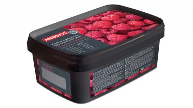 Puree de framboises sucree Andros - 0184107 - PassionFroid - Grossiste alimentaire