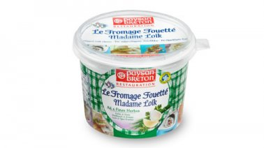 Le Fromage Fouette Mme Loik ail et fines herbes 24% MG 500 g - 0084085 - PassionFroid - Grossiste alimentaire