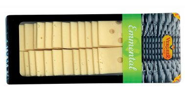 Emmental predecoupe 30 g 30% MG 720 g Vergeer Holland - 0042719 - PassionFroid - Grossiste alimentaire