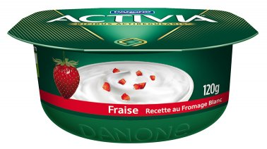 Activia recette au fromage blanc fraise 120 g Danone - 0137217 - PassionFroid - Grossiste alimentaire