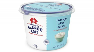 Fromage blanc nature 2,8% MG 1 kg Alsace Lait - 0052914 - PassionFroid - Grossiste alimentaire