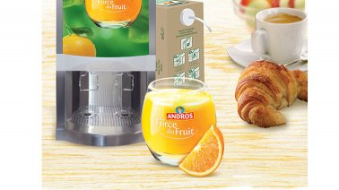 Jus d'orange presse 100% pur jus 3 L Andros - 0138598 - PassionFroid - Grossiste alimentaire