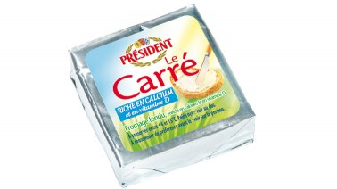 Le carre fromage fondu riche en calcium et vitamine D 21% MG 20 g President - 0236249 - PassionFroid - Grossiste alimentaire