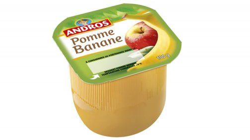 Dessert de fruits pomme banane 100 g Andros - 0137363 - PassionFroid - Grossiste alimentaire