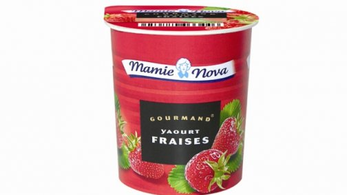 Yaourt Gourmand fraises 150 g Mamie Nova - 0060325 - PassionFroid - Grossiste alimentaire
