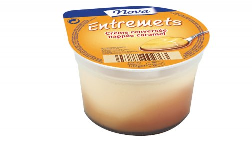 Creme renversee nappee caramel 100 g Nova - 0063914 - PassionFroid - Grossiste alimentaire