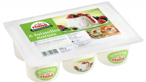 Faisselle 6% MG 150 g Rians - 0031683 - PassionFroid - Grossiste alimentaire