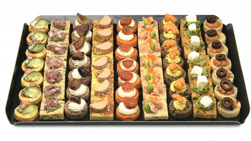 Canapes evasion x 63 - 560 g - 0189302 - PassionFroid - Grossiste alimentaire